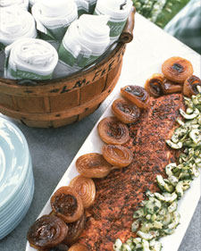Sunday BBQ: Spice-Rubbed Grilled Salmon with Spicy Cucumber Salsa