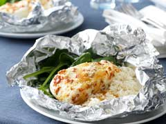Fast & Easy Dinner: Foil Pack Fish Florentine