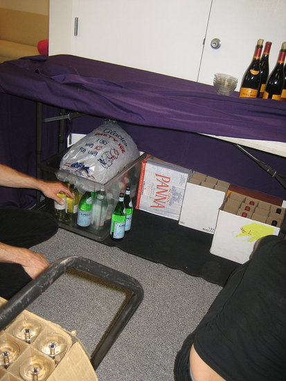 Easy Party Tip: Hide Stuff Under The Table