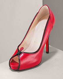 Christian Louboutin Caracolo Patent Zip Pump