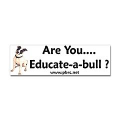 Educate-a-bull Sticker (Bumper)