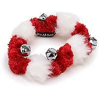 Red & White Holiday Bell Collar