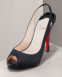 Christian Louboutin Crepe Stain Slingback - Neiman Marcus