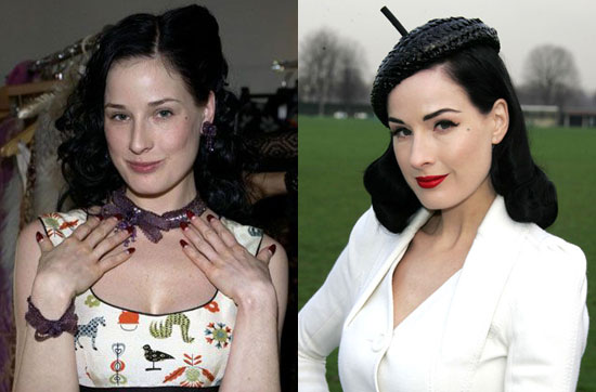 Do You Like Dita Von Teese Au Naturel or All Made Up?