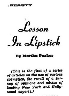 Lipstick Tips From 1944