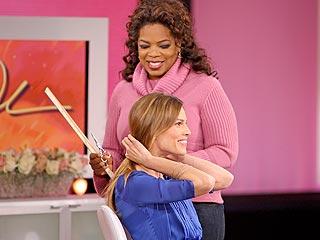 Oprah Chops Off Hilary Swank's Hair