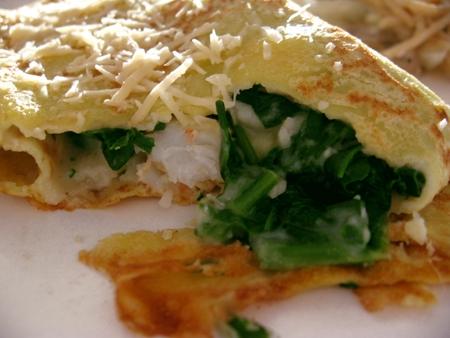 seafood florentine crepes