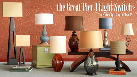 Sale Alert: Pier 1's Great Light Switch