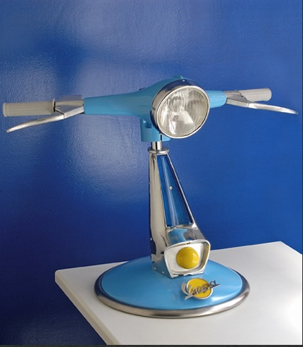 Love It or Hate It? Recycled Vespa Lamp