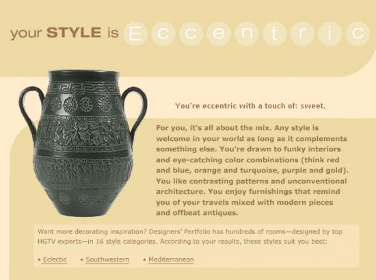 Design Style Quiz - accurately fun! :D