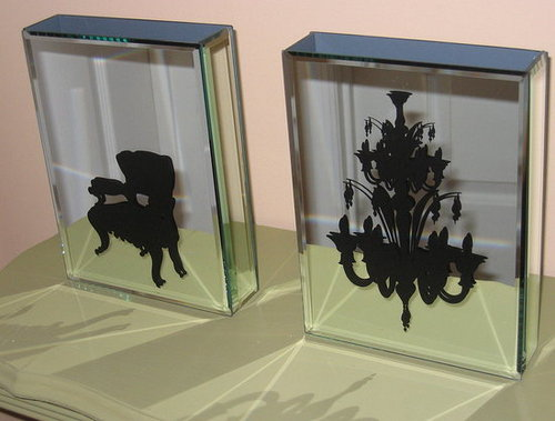 Stylish Mirrored Vases