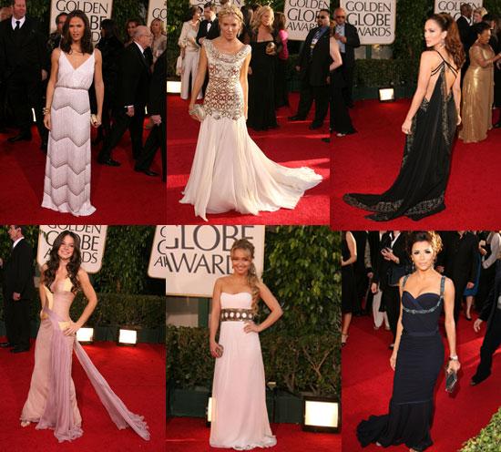 The Golden Globes Red Carpet: Grecian Goddesses
