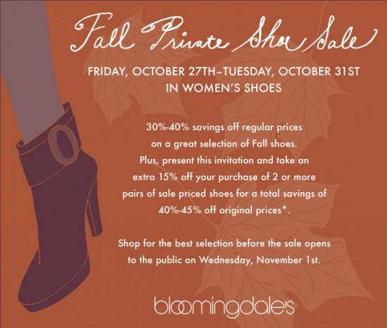 Bloomingdale's Private Shoe Sale!