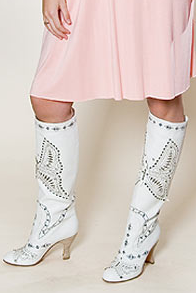 Anna Sui Butterfly White Boots: Love It or Hate It?