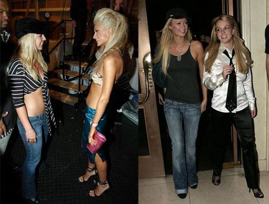 Britney & Paris - Then and Now