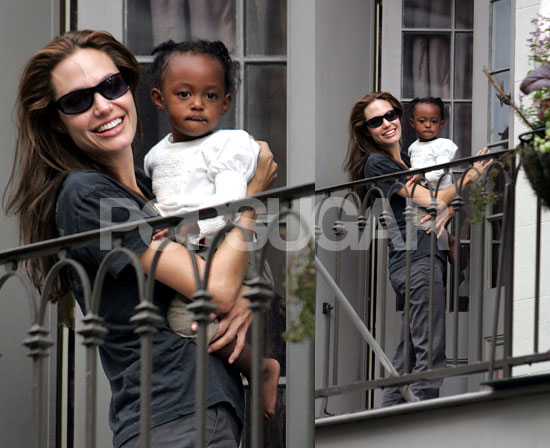 Angie and Zahara Watch Mardi Gras from Upper Deck