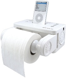 Totally Geeky or Geek Chic? iPod Dock Toilet Paper Holder