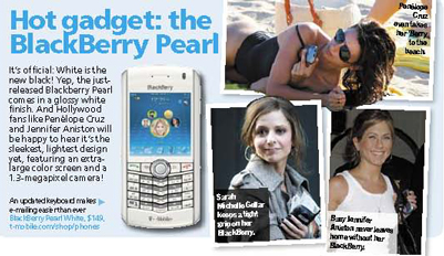 Penelope, Sarah and Jen Are Blackberry Fashionistas