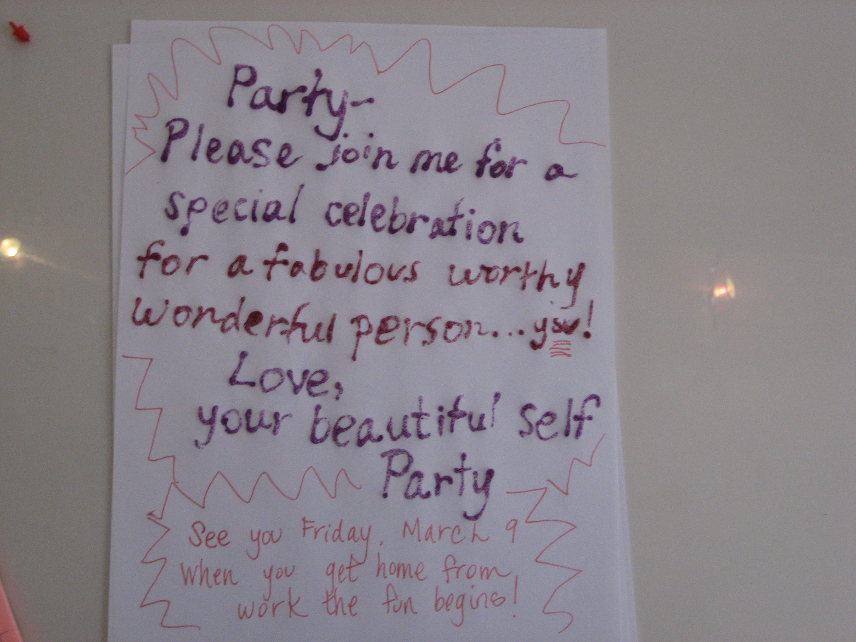 Come Party With Me: Celebration You - Invites