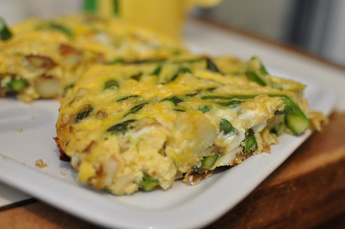 Asparagus, Potato, and Cheddar Frittata