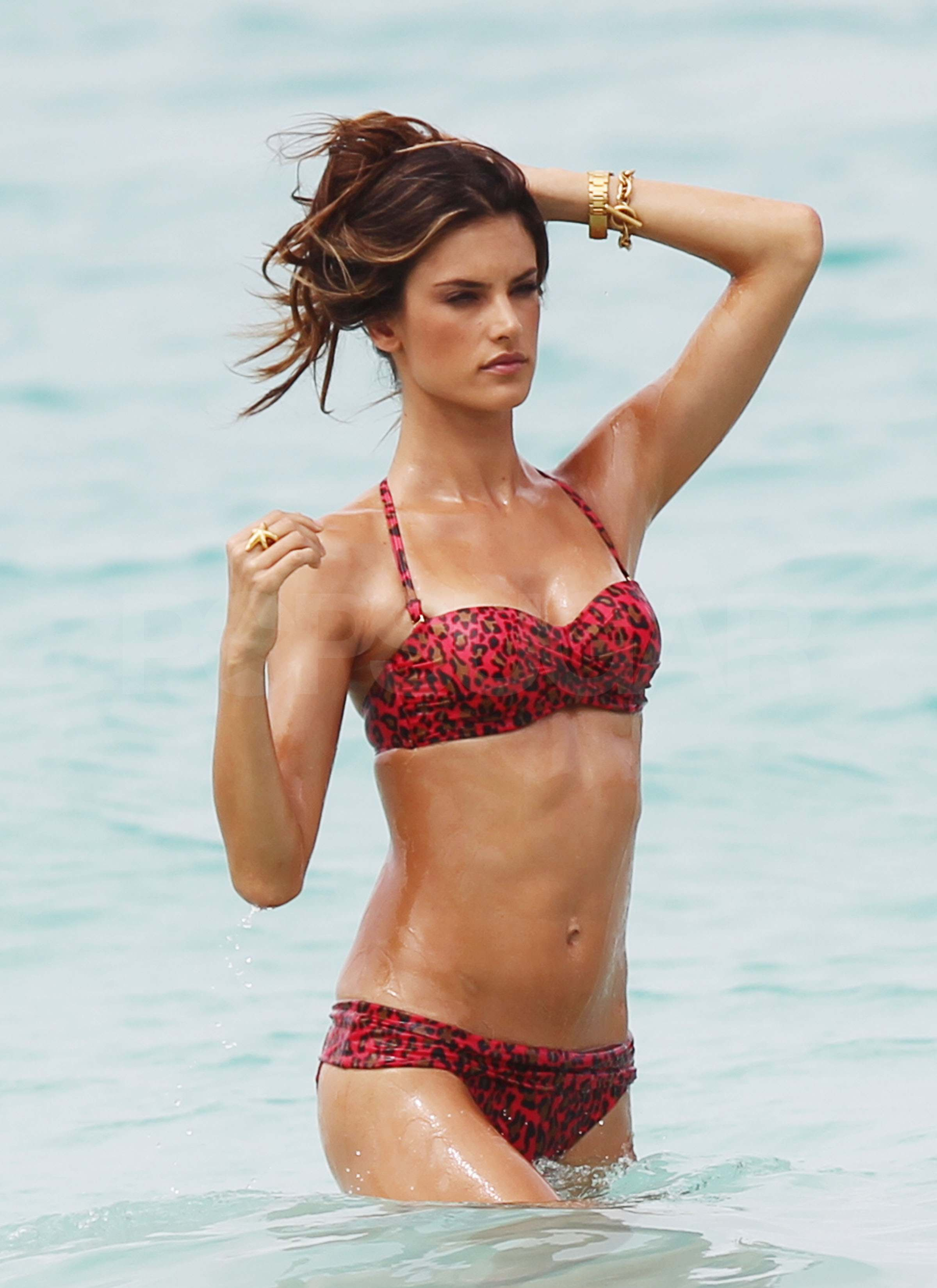 Pictures of Alessandra Ambrosio in Bikinis on Beach For Victoria's ...