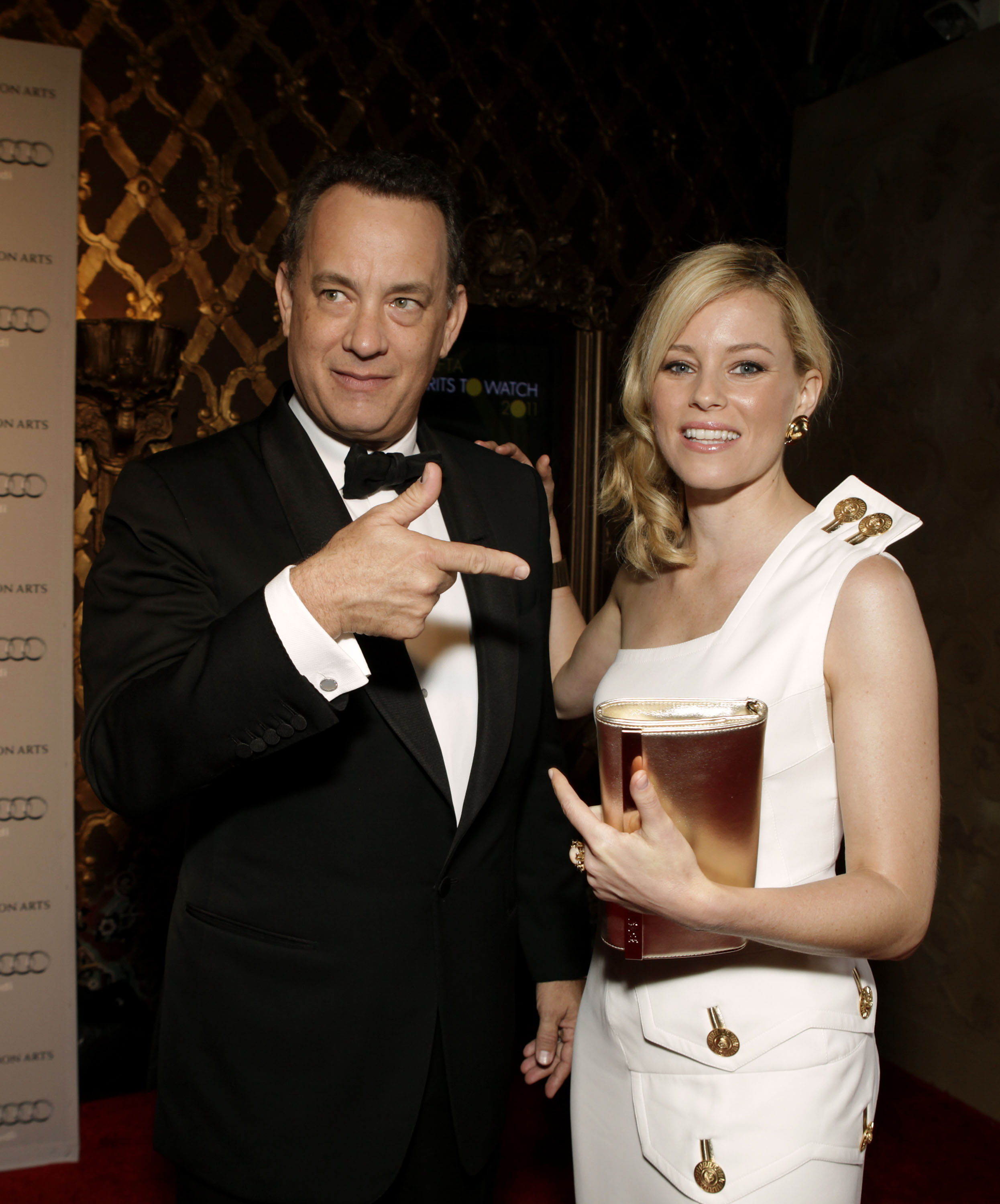 Tom Hanks and Elizabeth Banks at the BAFTA Brits to Watch event in LA.