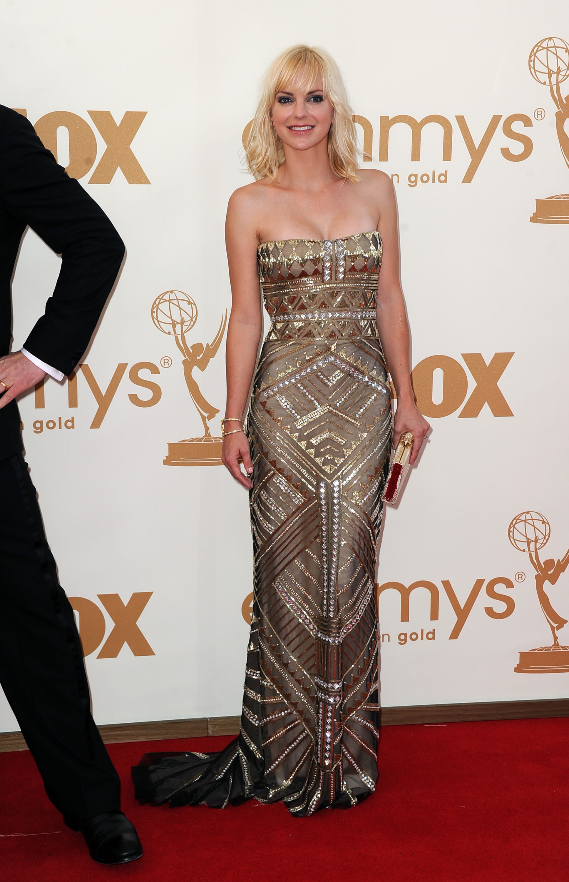 Anna Faris at the Emmys.
