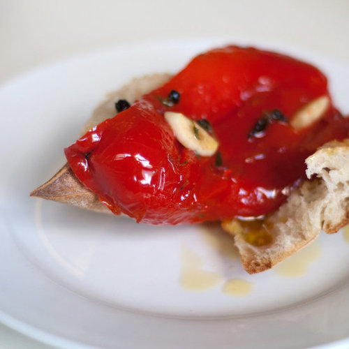 Roasted Red Peppers With Garlic and Olive Oil