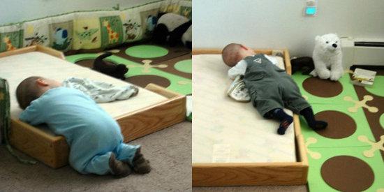 floor beds for babies popsugar moms. Black Bedroom Furniture Sets. Home Design Ideas