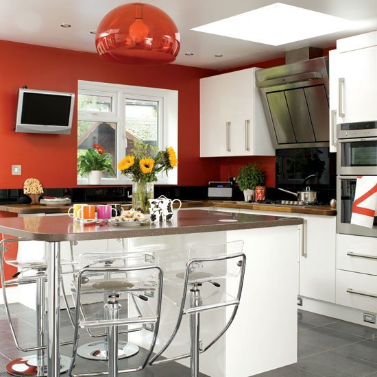 Apartment Kitchen Color Ideas Colors Vibrant Colour And Suspended Ceilings
