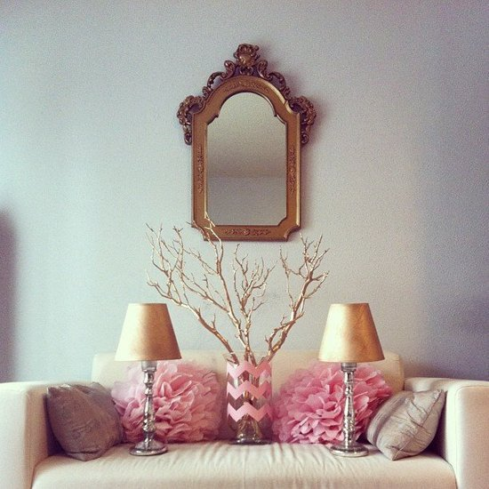 Pink and Gold Party Decor DIYs POPSUGAR Home
