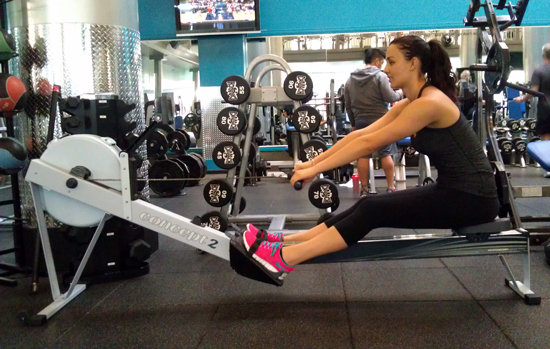 how to work out with the rowing machine