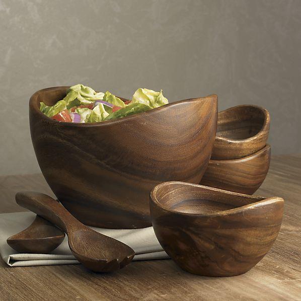 terrablack :: Décor :: Tabletop: Wood Salad Bowls