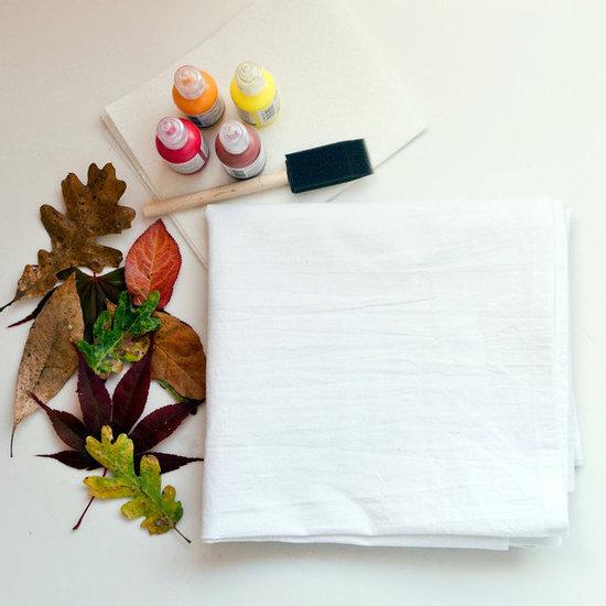 Diy Fall Leaf Tablecloth Popsugar Smart Living