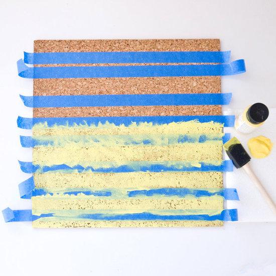 Diy modern corkboard popsugar smart living for Modern cork board