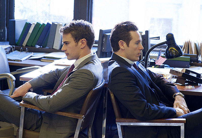 Theo James and Kevin Alejandro on Golden Boy.