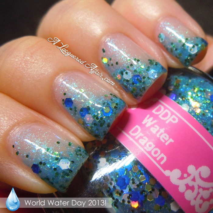 World Water Day 2013 inspired manicure on Instagram
