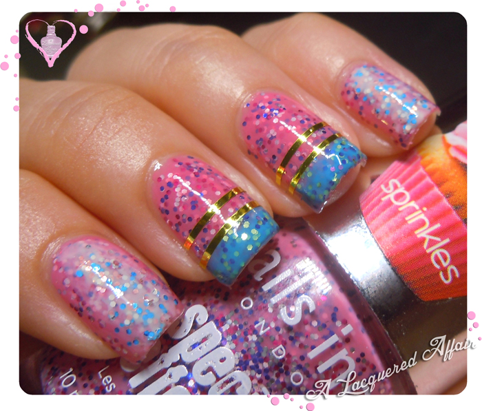 Nails Inc. Sprinkles nail art