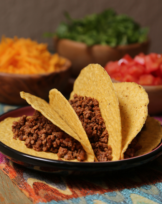 Ground beef tacos recipe popsugar food for Meals that can be made with ground beef