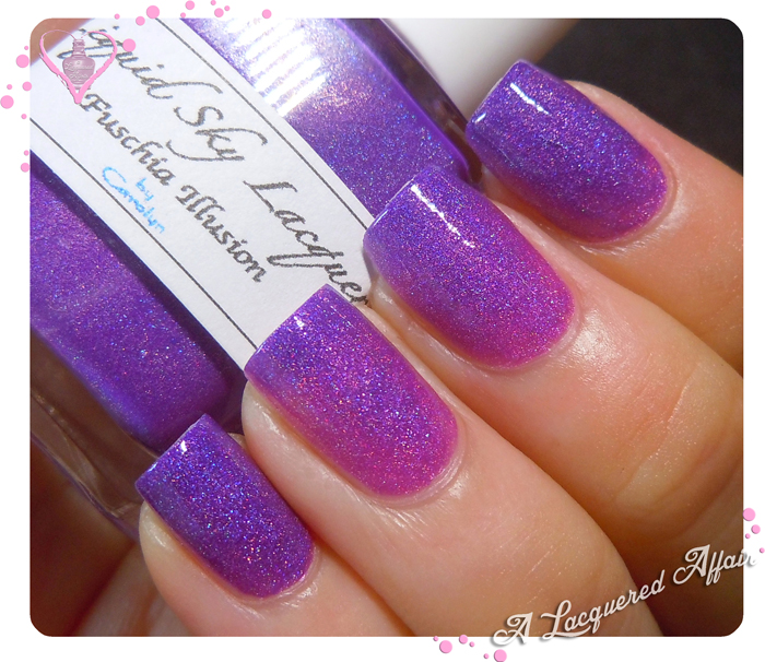 Liquid Sky Lacquer Fuschia Illusion - transitioning