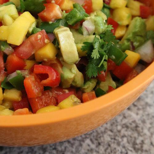 Pineapple, Mango, and Jalapeño Salsa