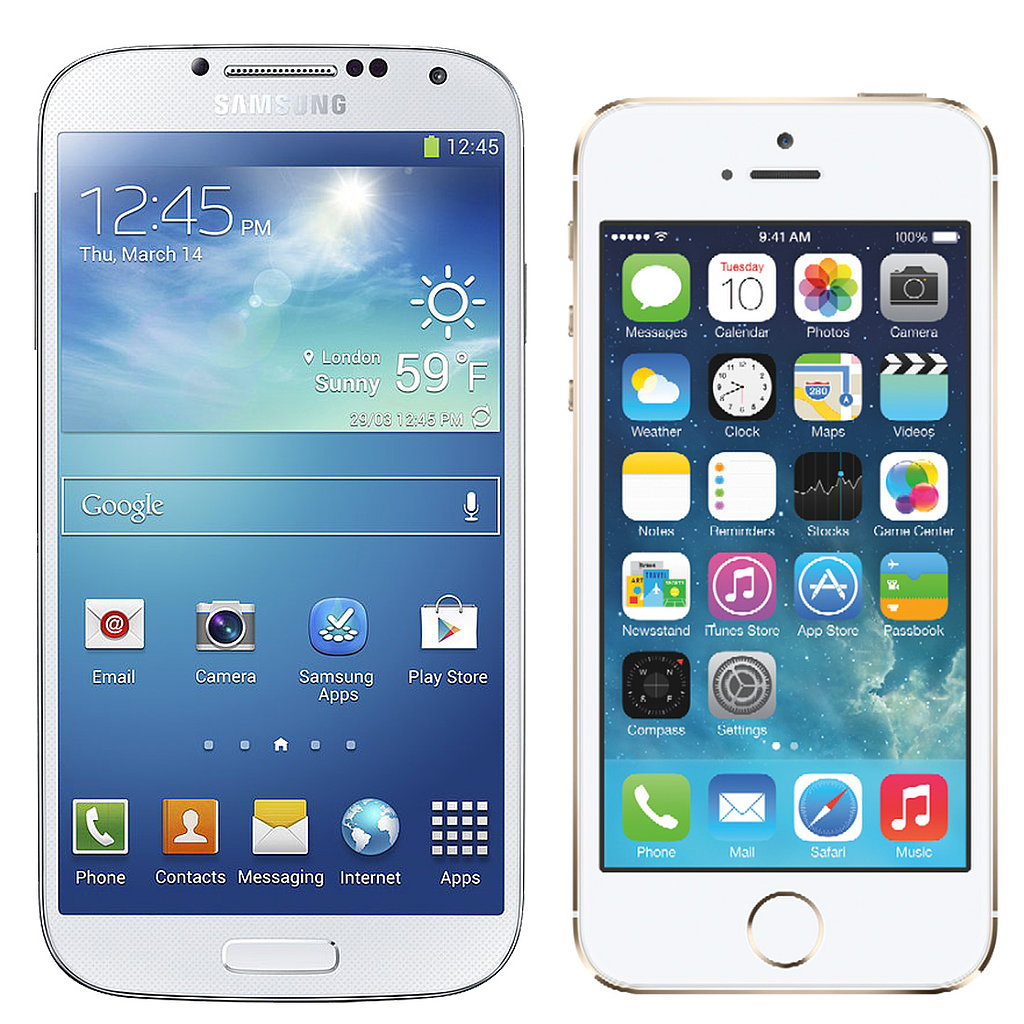 iphone vs samsung iphone 5s or samsung s4 popsugar tech 12454