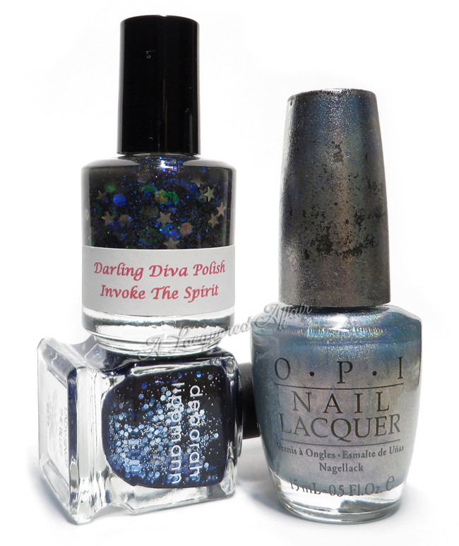 Polishes for Sapphire-inspired Mani