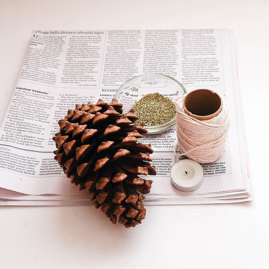 PopsugarLivingDiyDIY Pinecone Fire StarterCozy Up With Homemade Pinecone Fire StartersDecember 2, 2016 by Sarah Lipoff1.9K SharesChat with us on Facebook Messenger. Learn what's trending across POPSUGAR.There's nothing more relaxing than cozying up to a flickering fire after a long day. Make things easier with the help of a fresh-smelling fire starter that pops under your logs or backyard fire pit. If you've got pinecones hanging out around your neighborhood, this DIY is basically free (and makes a creative gift, too!).What You'll Need:Pinecone1/4 cup candle waxNewspaper1 to 2 tablespoons dried rosemaryCotton string or candle wickDirections:Start by cleaning off your pinecone so it's free of any debris or loose bits. Any size pinecone works, but big ones burn longer, helping to really get your fire started.Gather ends of old candles and melt in a double boiler. While waiting, place the pinecone on several layers of newspapers. Cut a 1-foot length of the cotton string and wrap it around the pinecone, starting - 웹