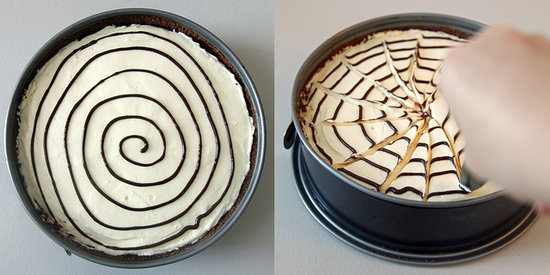 No Bake Spiderweb Cheesecake Popsugar Food