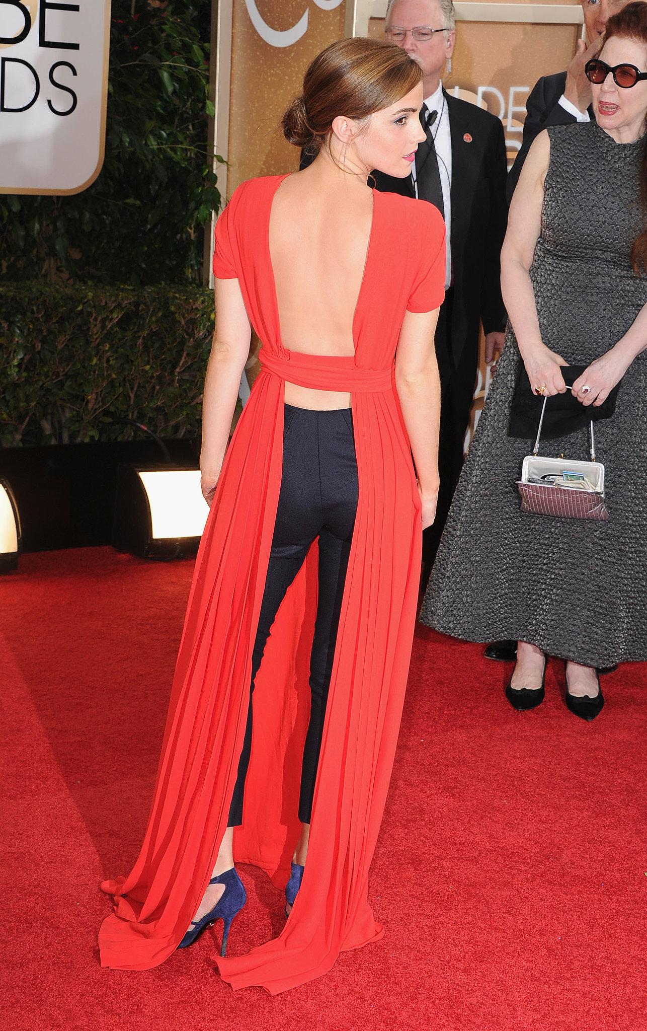 Emma Watson Dress on Golden Globes 2014 Red Carpet | POPSUGAR Fashion