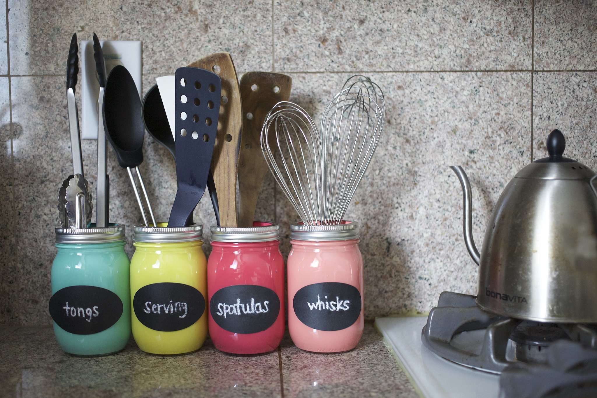 diy mason jar organizer | popsugar smart living