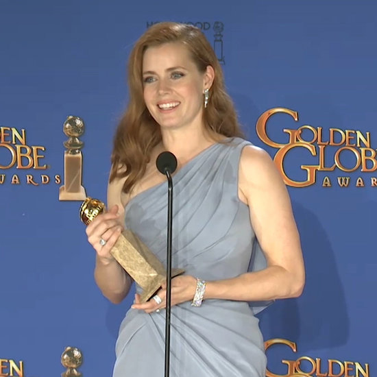 Amy Adams's Golden Globes Press Room Interview 2015