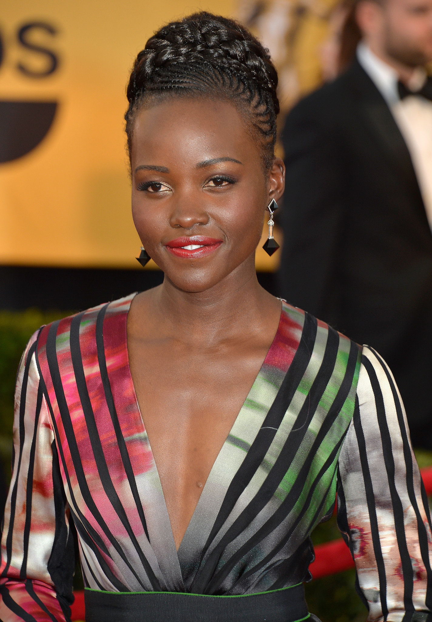 Lupita Nyong O Dress At Sag Awards 2015 Popsugar Fashion
