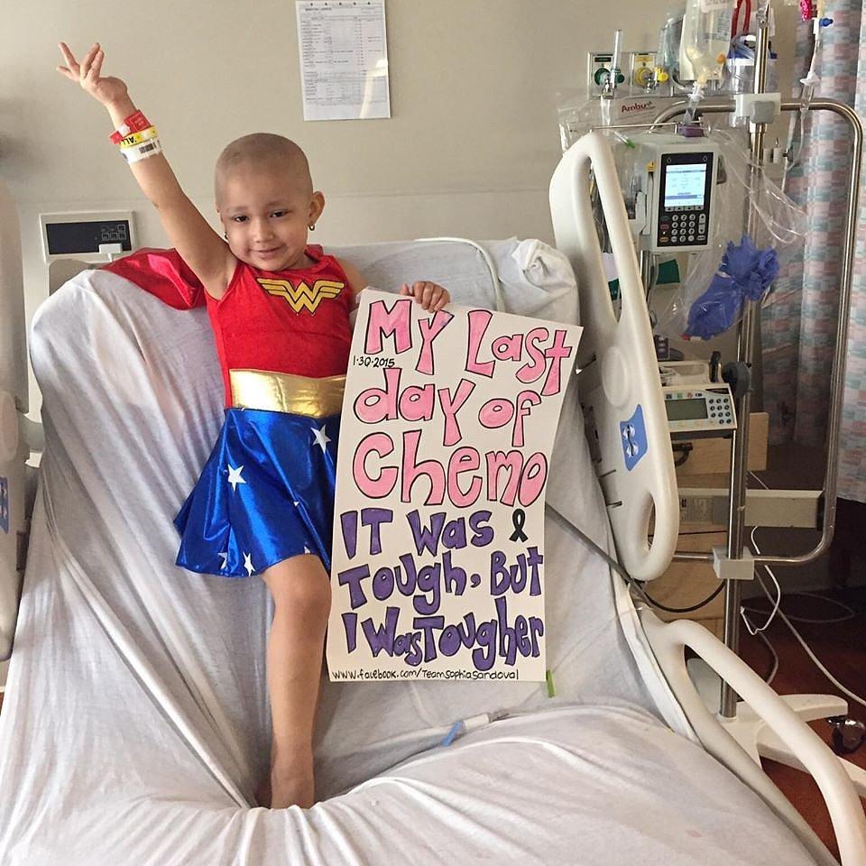 little girl with cancer dresses as wonder woman popsugar